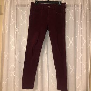 American Eagle Maroon Red Jegging